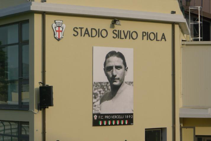 Silvio Piola, el delantero que no quería dejar el norte