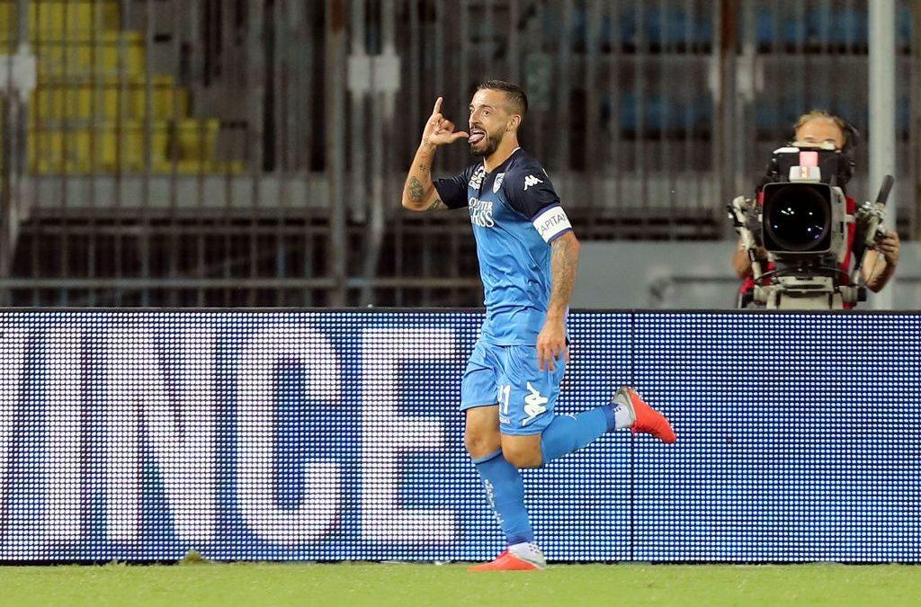 Francesco Caputo, goles desde el barro