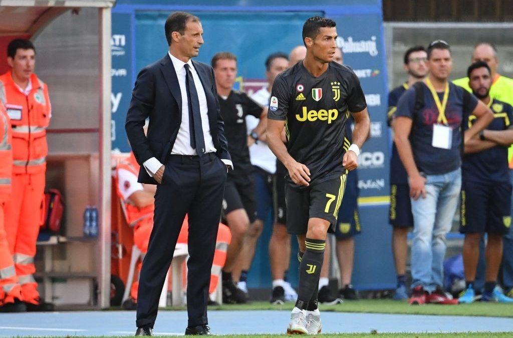 La chiacchierata I Cristiano Ronaldo con Allegri